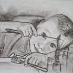 Feliks, Kohle auf Zeichenpapier, September 2012