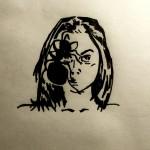 Du - Es - Ich, Marker auf Butterbrotpapier, Mai 2013
