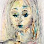 In Gedanken, Öl-Pastell-Kreide auf Skizzenpapier, September 2013