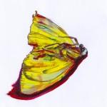 Schmetterling, Buntstift und Auarell auf Papier, April 2012