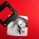 Slides, Edding auf Butterbrotpapier, Juni 2013